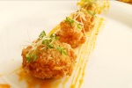 fingerfood shrimp cake aioli