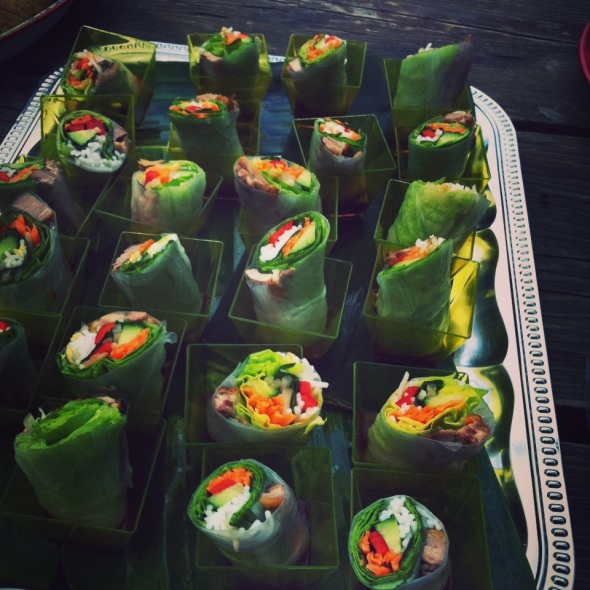 Vietnamese Salad Rolls with Roasted Duck Breast